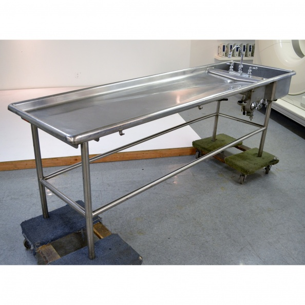 Table, Morgue- JR W/ Sink