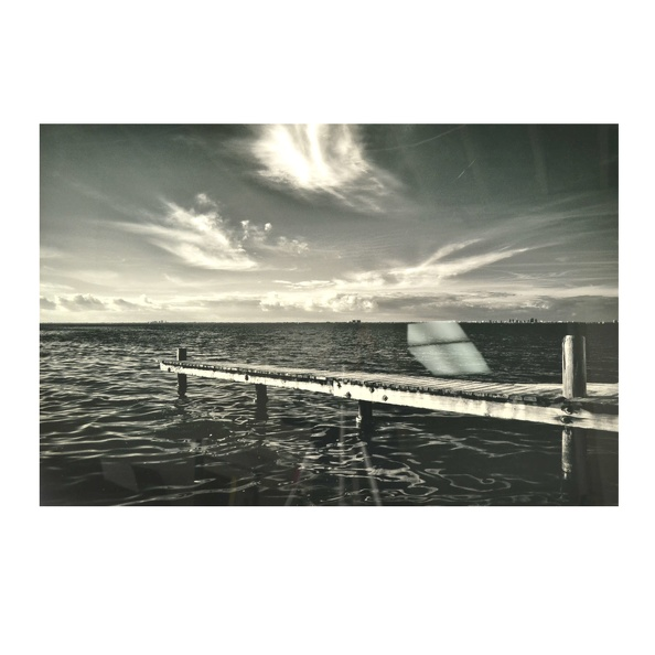 Cleared Photo- Dock With City On The Horizon