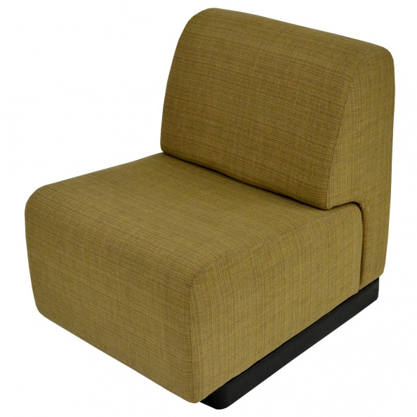 Chair, Lounge- Gold Fabric, Modular Single Seat