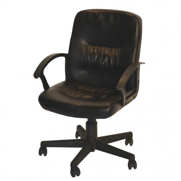 Chair, Office- Black, Square On Back,Seat, Autoloc