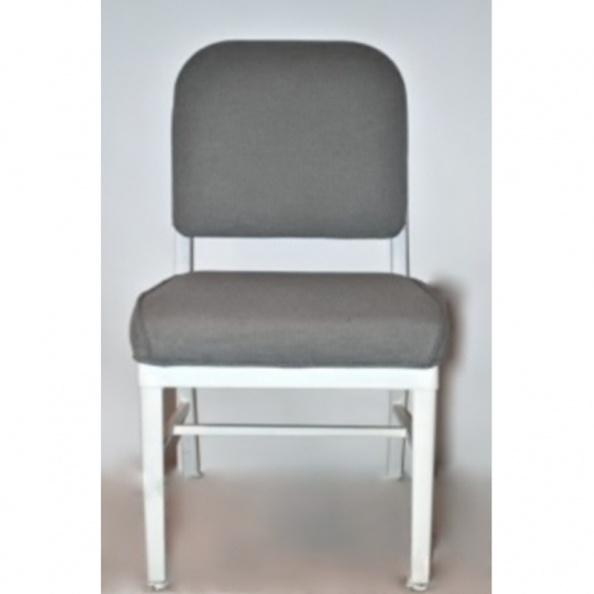 Chair, Tanker- No Arms, Cross, Grey & White