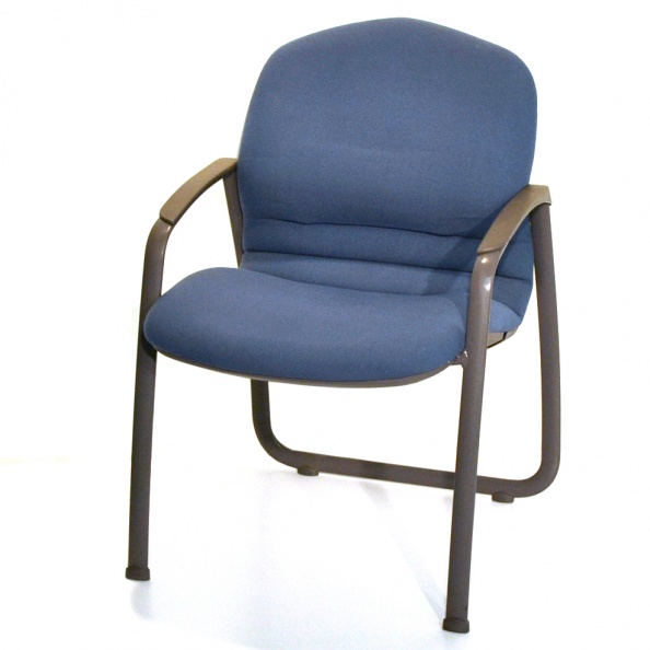Chair, Visitor- Light Blue Fabric, Light Grey