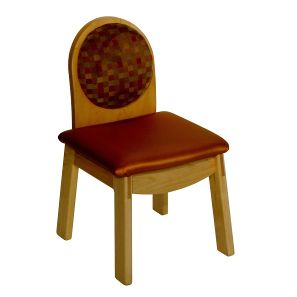 Chair, Waiting Room- Child, Red/Tan Squares