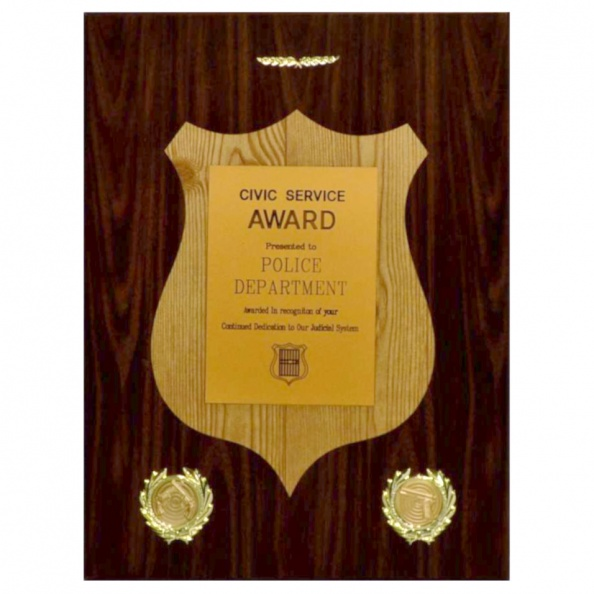 Award Plaque- Civic Service Award- Police