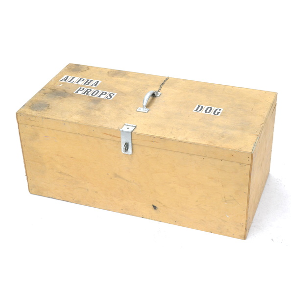 Box, Transportation- For Dog Skeleton, Wood 
