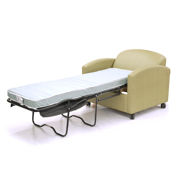 Chair, Sleeper- Hospital, Green, W/ Mattress