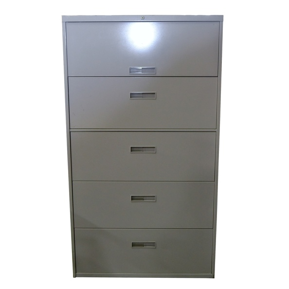Cabinet, File- Steel, Lat, 5 Drawer 36"
