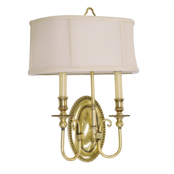 Sconce- Wall Mount, Double Light, Brass 