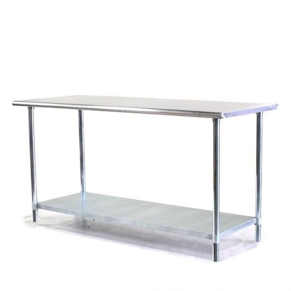 Table, Lab- 6' S-S, Round Edge, 2 Tier
