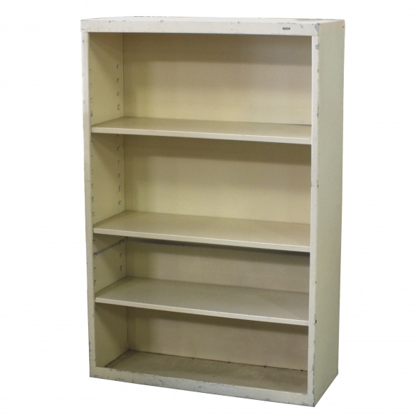 Cabinet, Metal- Bookcase, Adjustable Shelves