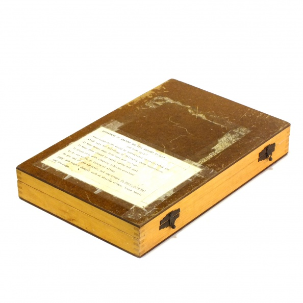 Box, Slide- Wood, Large, Microscope