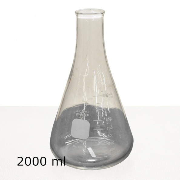 Labware: Flask, Glass- Conical, 2000 Ml
