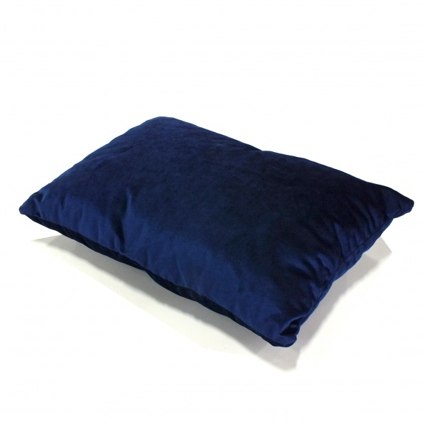 Pillow, Accent- Throw, Blue Velvet (Noncoded)