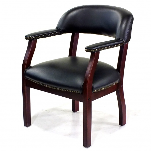 Chair, Pull Up- Black, Drk Cherry, Nail Trim