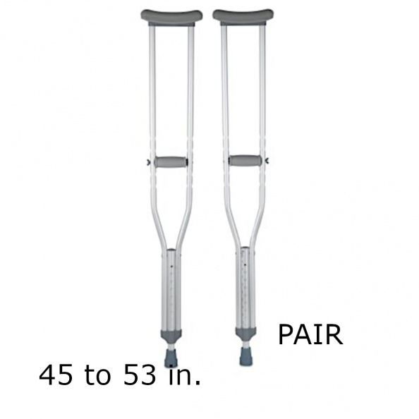 CRUTCHES, ALUMINUM-  UNDERARM, 45 To 53 IN [PAIR]